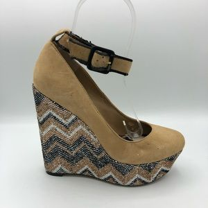 Jessica Simpson | Wedge High Heels Ankle Strap 7